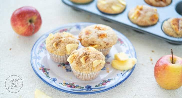 Einfache saftige Apfel-Muffins