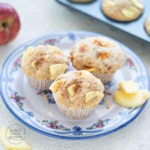einfache schnelle Apfel-Muffins
