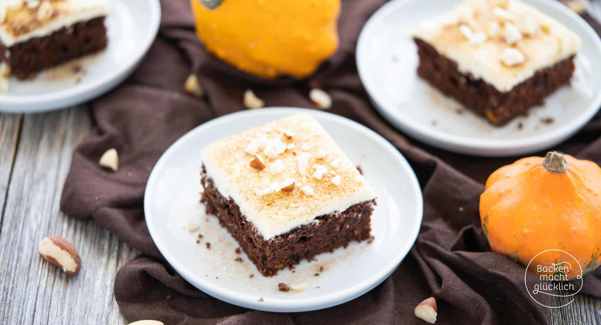 Saftiger Kürbis-Schoko-Kuchen  Backen macht glücklich