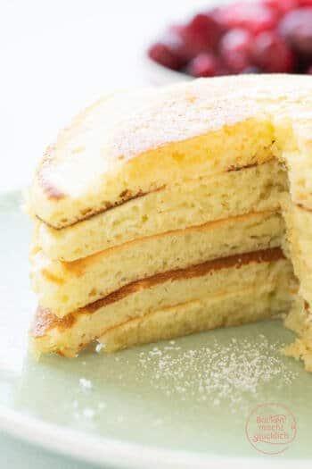 Pancakes mit Buttermilch und Joghurt