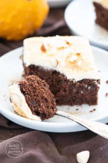 saftiger Kürbis-Schoko-Kuchen