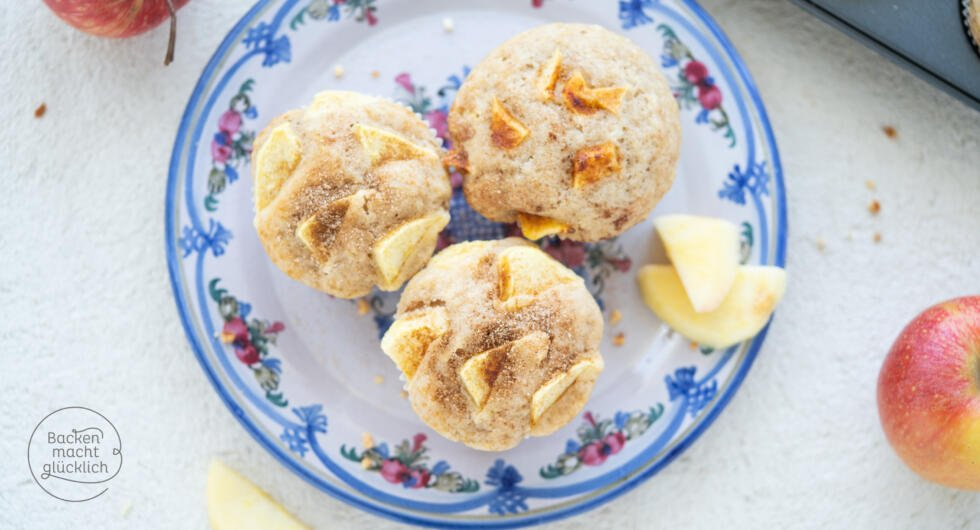 schnelle Apfel-Muffins mit Öl