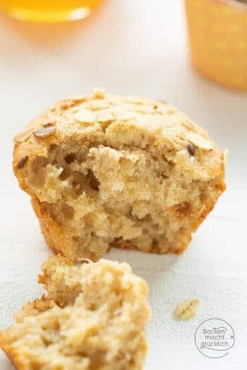 Clean eating muffins mit honig
