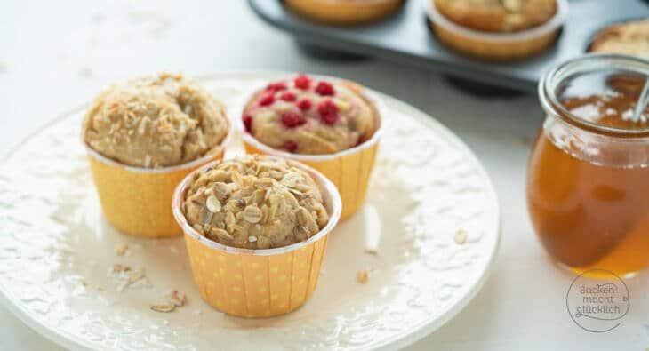 gesunde Vollkorn Honig Muffins
