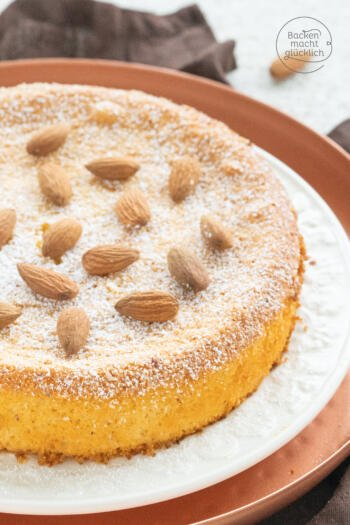 2 Zutaten Kuchen mit Marzipan
