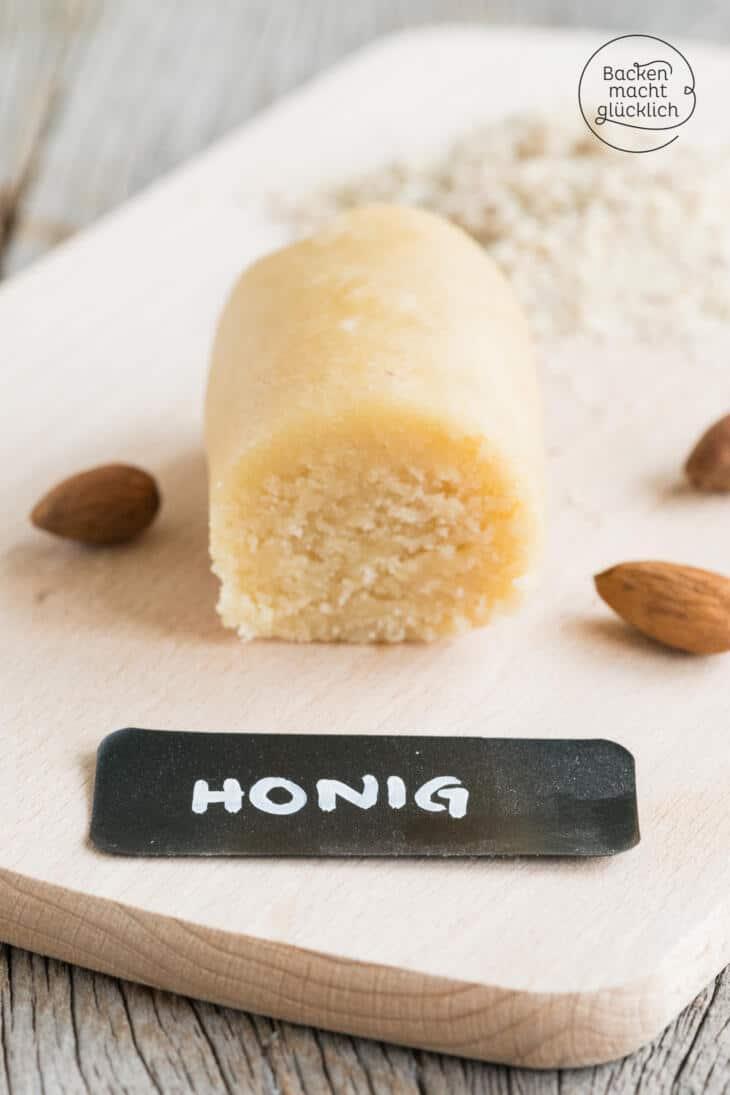 Marzipan selbermachen mit Honig