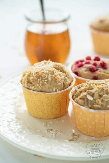 Muffins mit Dinkel und Honig
