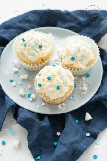 Schneflocken Winter Cupcakes