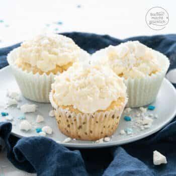 Schneeflocken Winter Cupcakes