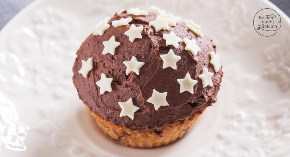 einfache Spekulatius-Cupcakes