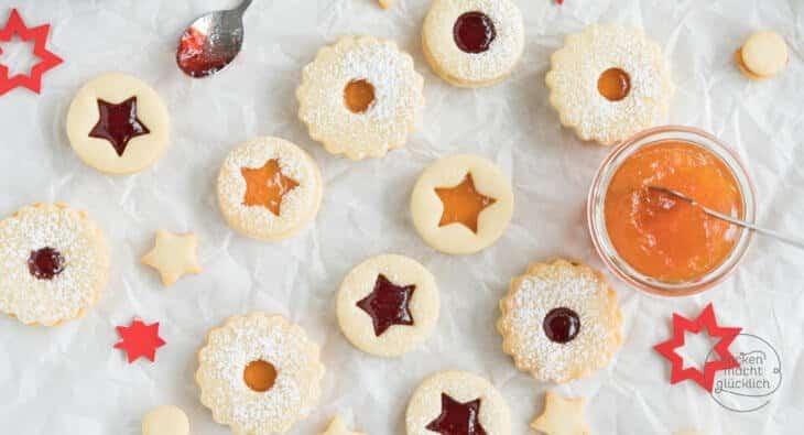 Omas Weihnachtskekse.Die Besten Spitzbuben Terrassenplätzchen Backen Macht Glücklich