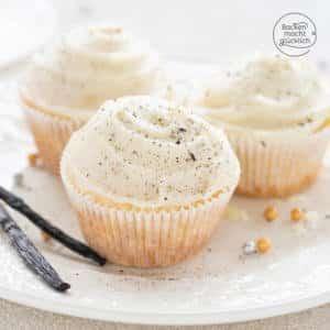 Vanille Cupcakes mit Buttercreme