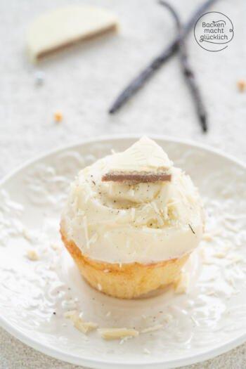 Vanillecupcakes mit Buttercreme Frosting
