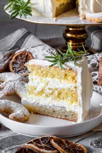Weihnachts-Torte mit Vanillekipferl