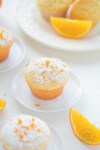 Muffins mit Orangensaft