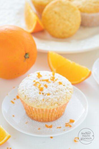 Orangenmuffins mit Saft
