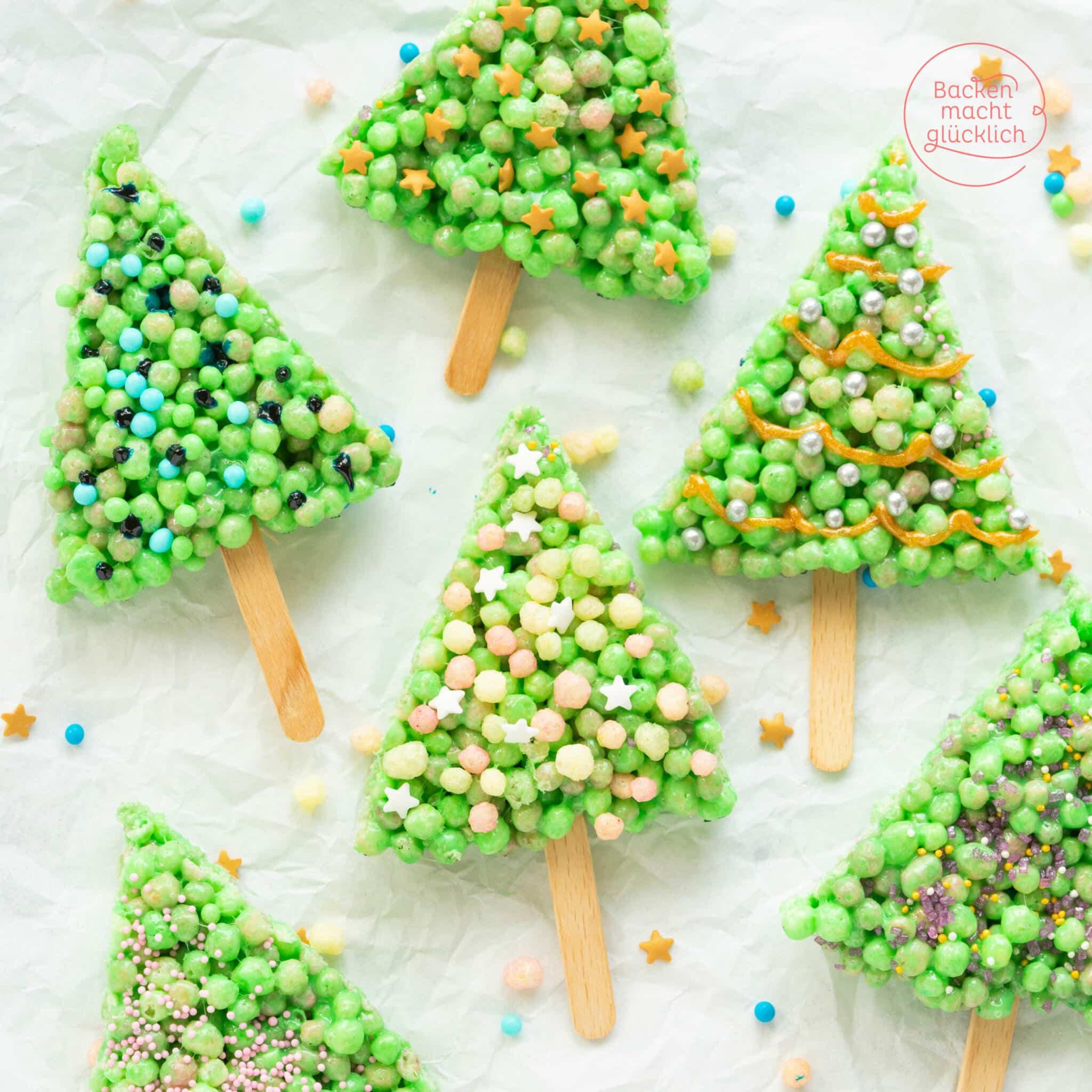 Tannenbäume backen Marshmallow Bäume