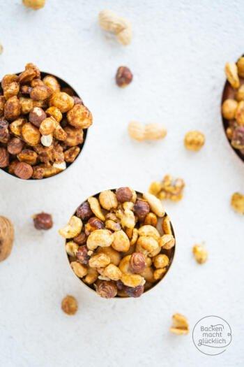 geröstete Honig-Salz-Nüsse