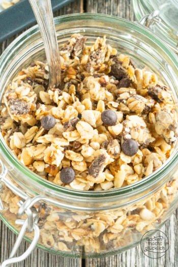 Schoko-Granola Rezept mit Eiweiß