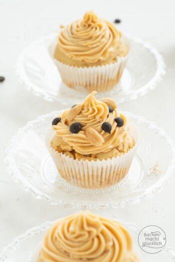 Erdnuss Cupcakes mit Frosting