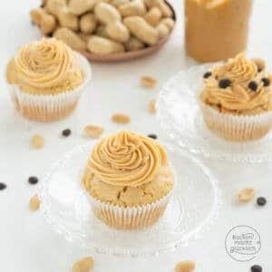 Erdnuss-Butter-Cupcakes