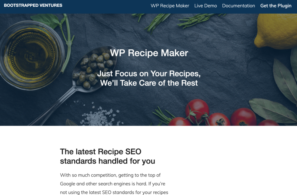 WP Recipe Maker Homepage