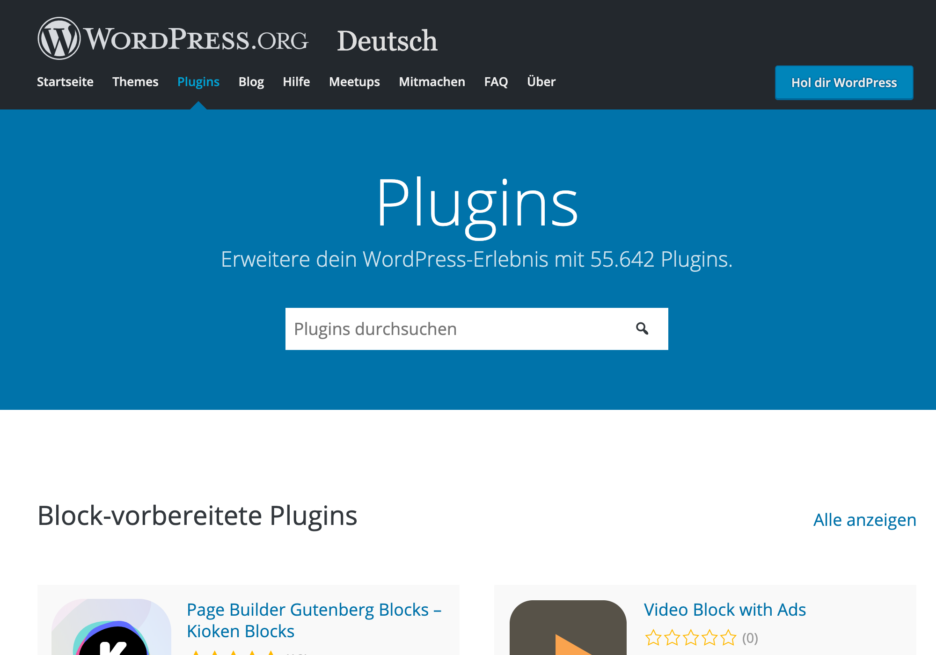 WordPress Plugins Homepage