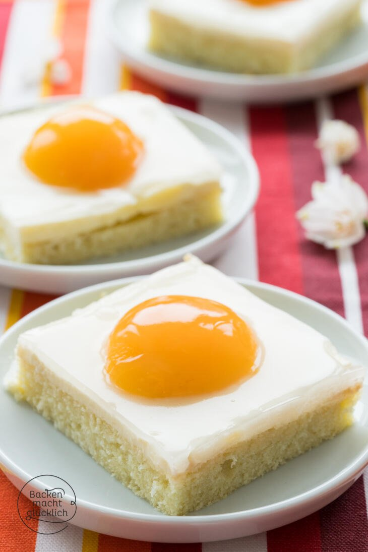 Spiegelei-Kuchen mit Quark und Schmand