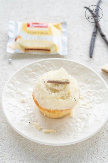 Vanille Muffins mit weißer Schokolade