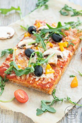 Dinkel Pizza vom Blech