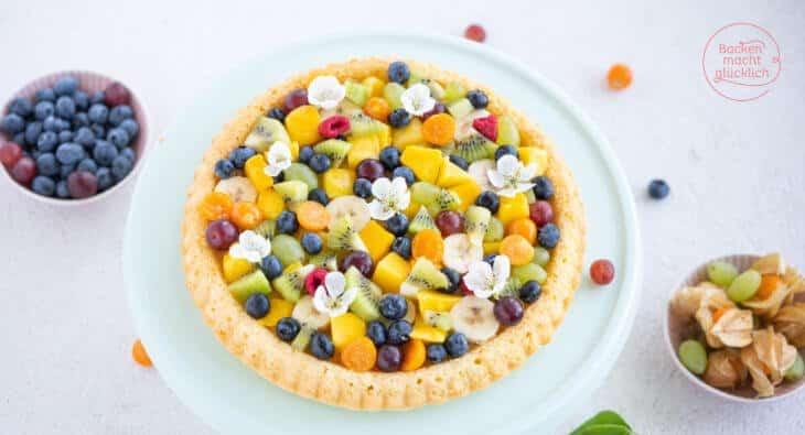 eijfacher Rührteig Obstkuchen