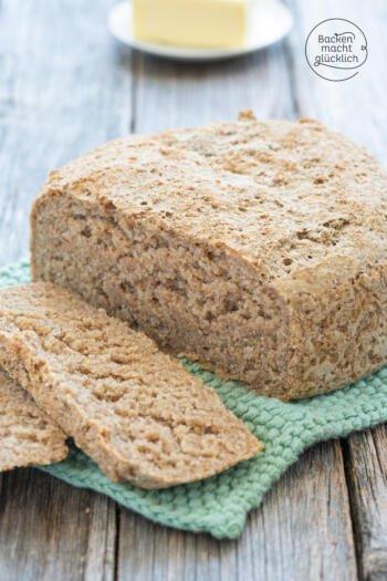 einfaches Brot mit Roggenschrot