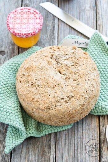 einfaches Brot mit Sauerteigpulver