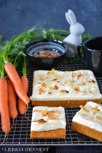 Karottenblondies