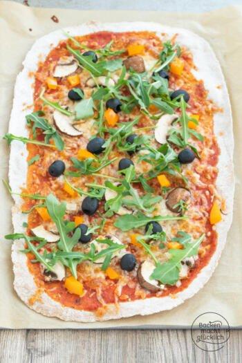 Pizza mit Vollkornmehl