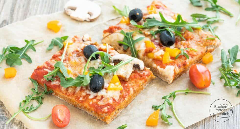 Pizzateig mit Vollkorn und Trockenhefe