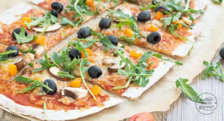 Vollkorn Pizza vom Blech