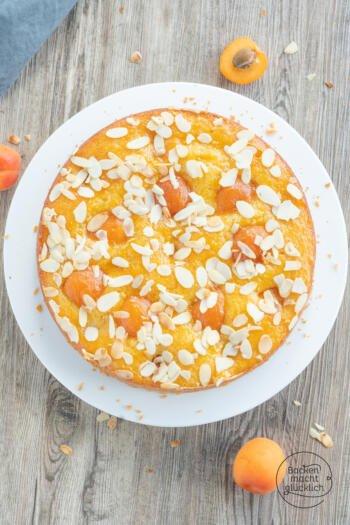Aprikosenkuchen mit frischen Aprikosen