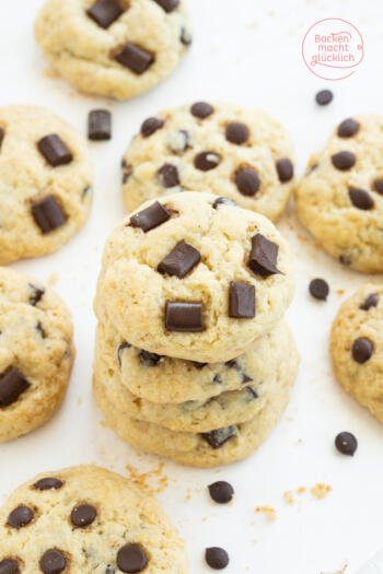 Chocolate Chip Cookies ohne Ei Butter Milch