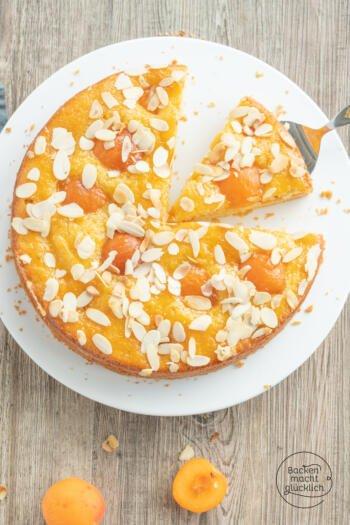 Einfacher Aprikosenkuchen Rührteig