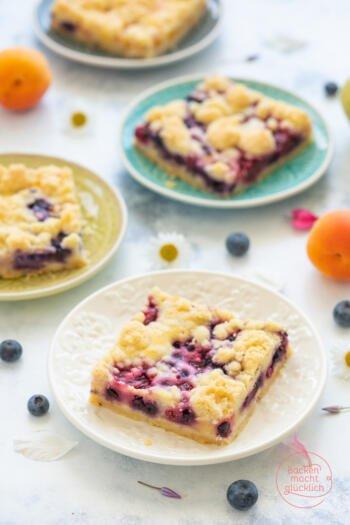 Mürbeteig Obstkuchen mit Streuseln