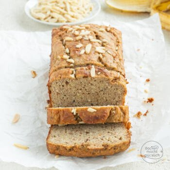saftiges low carb Bananenbrot