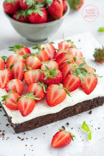 Erdbeer Brownie Kuchen