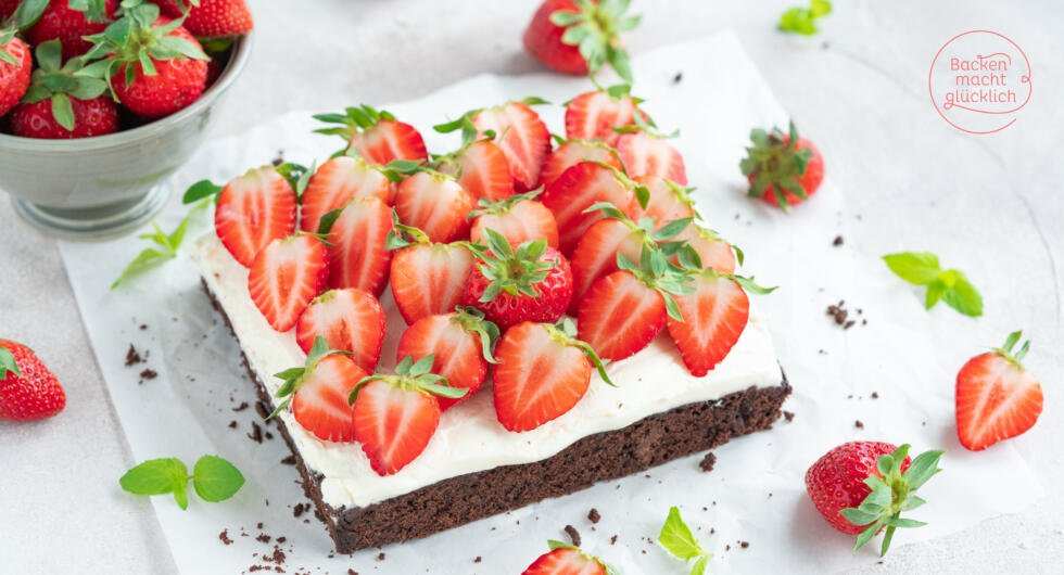 Erdbeer-Brownies