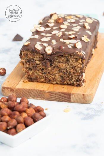 Nusskuchen mit Schokolade ohne Zucker