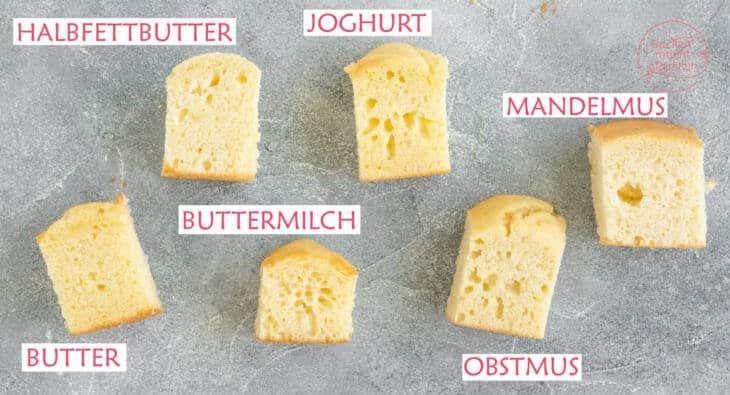 Butter ersetzen Kuchenbacken