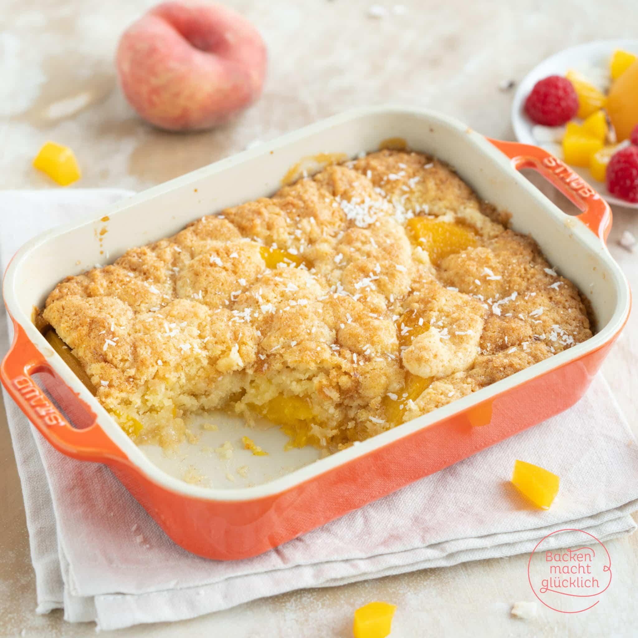Peach Cobbler mit Pfirischen