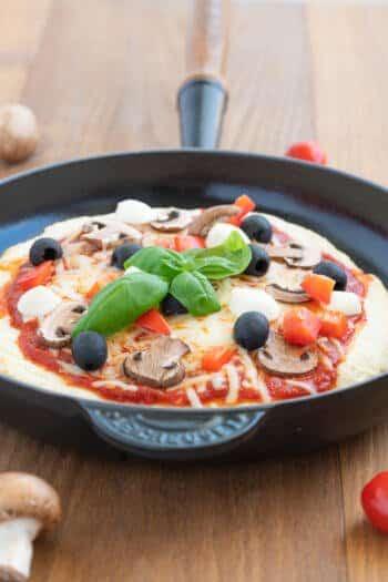 Pizza aus der Pfanne