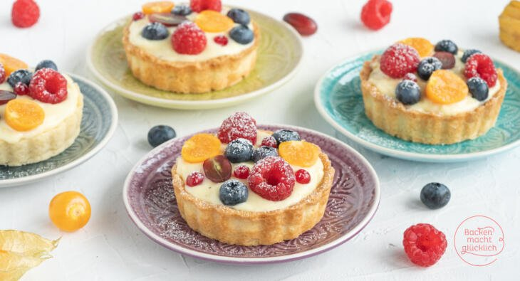 Vanille-Tartelettes mit Obst