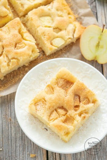 Apfelkuchen Blech saftig